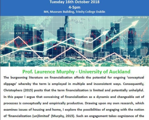 Poster: Seminar with Larry Murphy, 16 October 2018, Trinity College Dublin